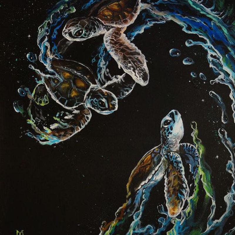 sea turtle artwork