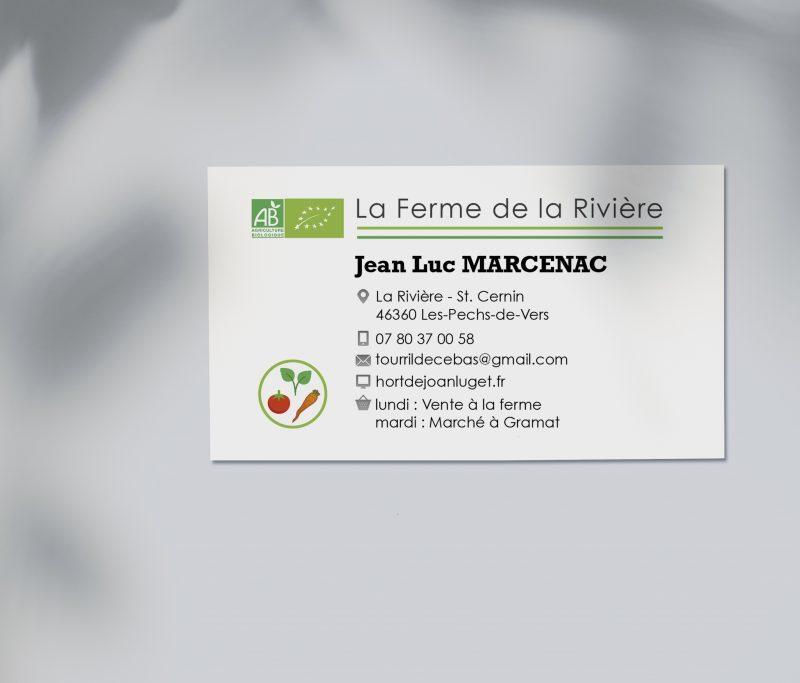sustainable business card design la ferme de la riviere Jenny tam thai